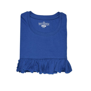 WOMEN'S L/S TEE-ROYAL BLUE-EMFW4KW-2005 - Export Mall Online Store Sale