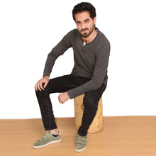Load image into Gallery viewer, MEN'S L/S HENLY-NAVY/YELLOW-EMFW20KM-1005 - Export Mall Online Store Sale