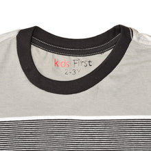 Load image into Gallery viewer, BOY'S S/S TEE-25BS-STK-ASRT01- Gray/Black Stripe - Export Mall Online Store Sale