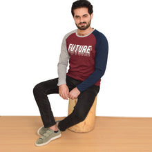 Load image into Gallery viewer, MEN'S L/S GRAPHIC REGLAN-Maroon/Grey-EMFW20KM-1001 - Export Mall Online Store Sale