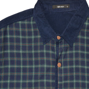 MEN'S WOVEN SHIRT-NAVY #25 - Export Mall Online Store Sale