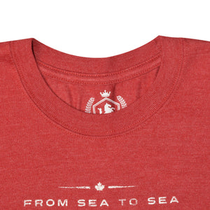 MEN'S S/S GRAPHIC TEE-RED HTR CANADA-1024 - Export Mall Online Store Sale