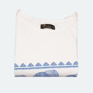 WOMEN'S S/S PRINTED TEE (white) - Export Mall Online Store Sale