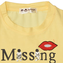 Load image into Gallery viewer, GIRL'S PRINTED TEE-YELLOW MISSING-GPTEE01 - Export Mall Online Store Sale