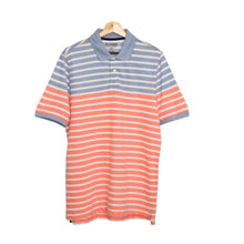 Load image into Gallery viewer, MEN'S S/S ORANGE WHITE BLUE STRIPE POLO-3734&3721 - Export Mall Online Store Sale