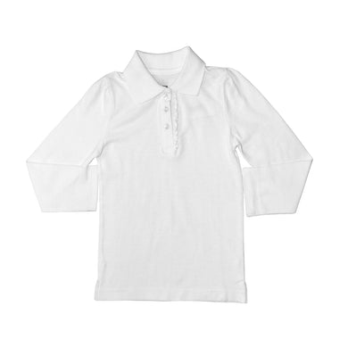 GIRL'S L/S POLO-WHITE-SSFW20KG-2201 - Export Mall Online Store Sale