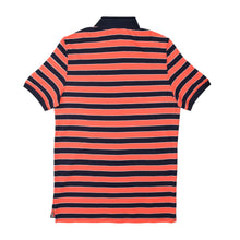 Load image into Gallery viewer, MEN'S S/S RED NAVY STRIPE POLO-3735 - Export Mall Online Store Sale