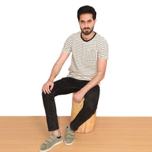 Load image into Gallery viewer, MEN'S S/S GRAPHIC TEE-Oatmeal/Navy-EMFW20KM-1008 - Export Mall Online Store Sale