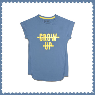 GIRL'S S/S GRAPHIC TEE-SKY BLUE-EMSS21KG-2228 - Export Mall Online Store Sale