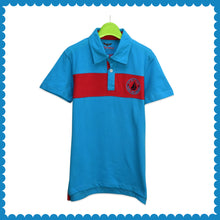 Load image into Gallery viewer, BOY'S S/S FASHION POLO-BLUE/RED-EMK0019 - Export Mall Online Store Sale