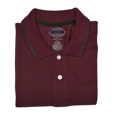 MEN'S S/S POLO- BURGUNDY-3795 - Export Mall Online Store Sale