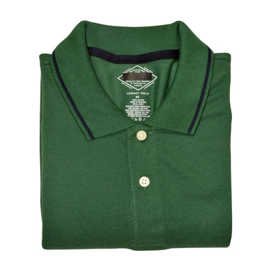 MEN'S S/S DARK GREEN POLO-3713 - Export Mall Online Store Sale