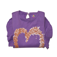Load image into Gallery viewer, GIRL'S L/S PRINTED TEE-Purple Print -H-18 - Export Mall Online Store Sale