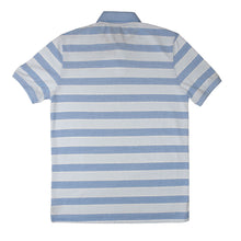 Load image into Gallery viewer, MEN'S S/S BLUE SKY BLUE STRIPE POLO-3733 - Export Mall Online Store Sale