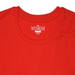 WOMEN'S L/S TEE-RED-EMFW20KW-2005 - Export Mall Online Store Sale