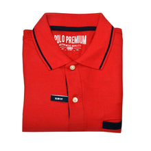 Load image into Gallery viewer, MEN'S S/S RED NAVY POLO-3726 - Export Mall Online Store Sale