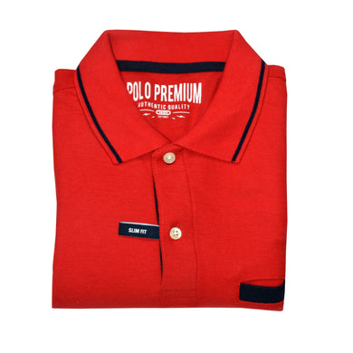 MEN'S S/S RED NAVY POLO-3726 - Export Mall Online Store Sale