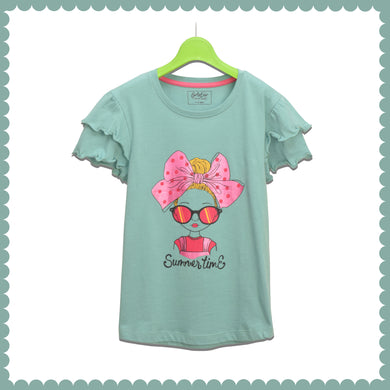 GIRL'S S/S GRAPHIC TEE-CANTON-EMSS21KG-2231 - Export Mall Online Store Sale