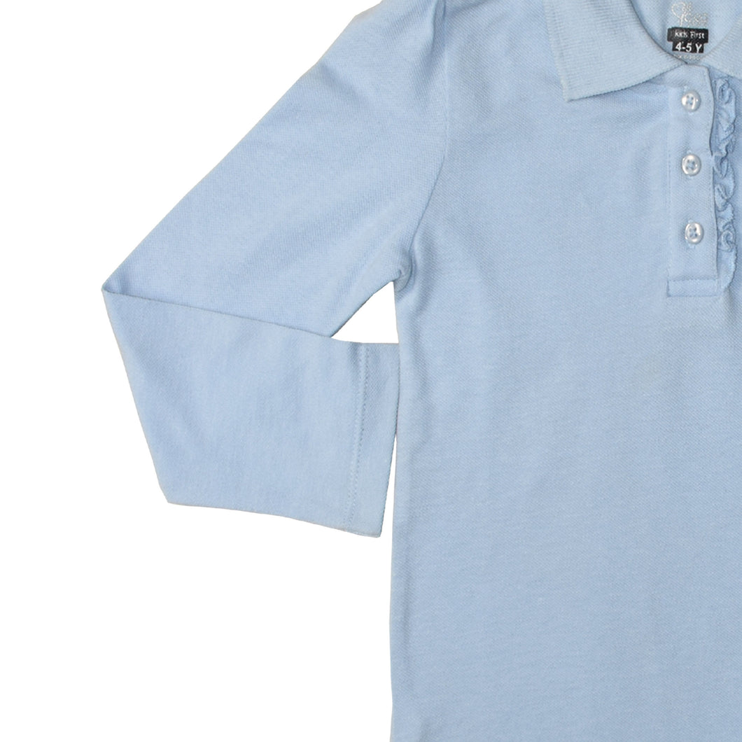 GIRL'S L/S POLO-SKY BLUE-SSFW20KG-2201 - Export Mall Online Store Sale