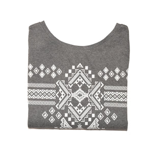 WOMEN'S KNIT SHIRT-D GREY PRINT-3585 - Export Mall Online Store Sale