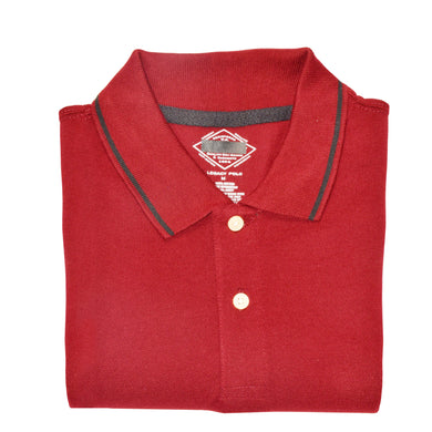 MEN'S S/S LIGHT RED POLO-3723 - Export Mall Online Store Sale