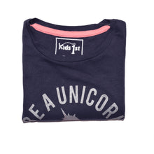 Load image into Gallery viewer, GIRL'S S/S GRAPHIC TEE-NAVY-EMSS20KG-2211 - Export Mall Online Store Sale