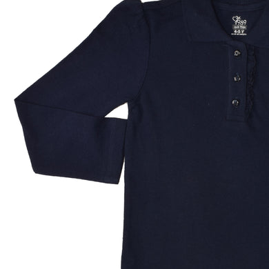 GIRL'S L/S POLO-NAVY-SSFW20KG-2201 - Export Mall Online Store Sale