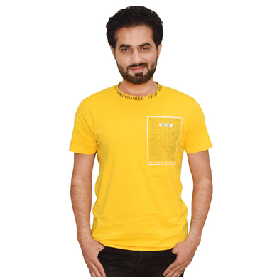 MEN'S S/S GRAPHIC TEE-MUSTARD-EMFW20KM-1012 - Export Mall Online Store Sale