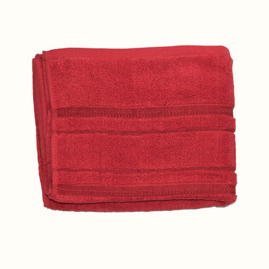 BATH TOWEL -RED-SSSS20TWL9002 - Export Mall Online Store Sale