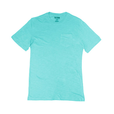 MEN'S POCKET TEE - SEA BLUE - Export Mall Online Store Sale