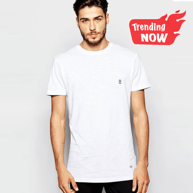 MEN'S S/S TEE-WHITE-1001 - Export Mall Online Store Sale