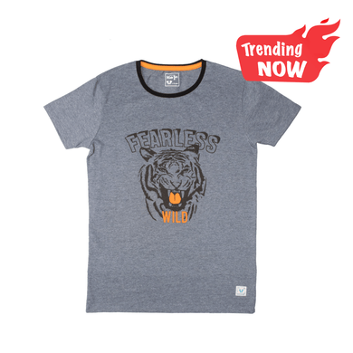 BOY'S S/S GRAPHIC TEE-SMOKE GREY-1104 - Export Mall Online Store Sale