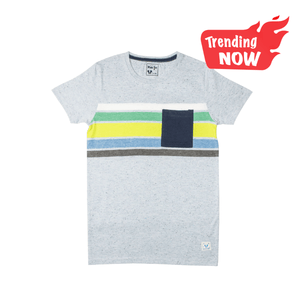 BOY'S S/S GRAPHIC TEE-Sky/Lime - Export Mall Online Store Sale