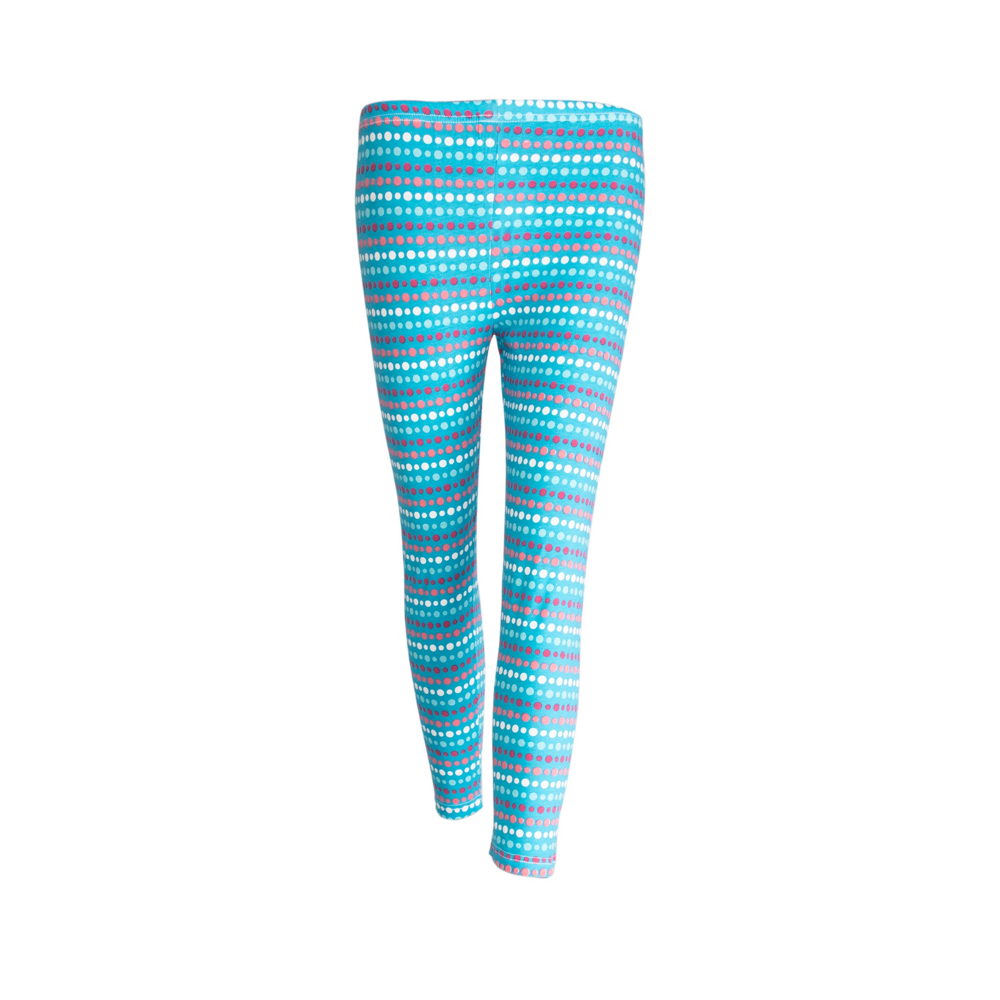 GIRL'S JUNIOR PRINTED LEGGING-BLUE LINES/DOTS - Export Mall