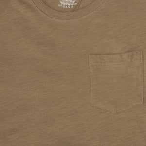 MEN'S POCKET TEE- OLIVE - Export Mall Online Store Sale