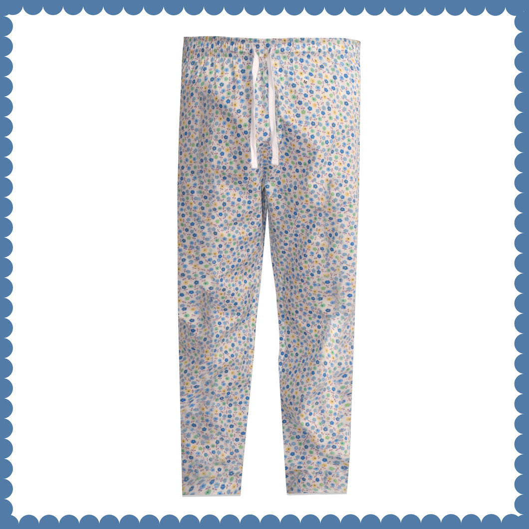 WOMEN'S TROUSER-WHITE/BLUE-EMSS21WW-4001 - Export Mall Online Store Sale
