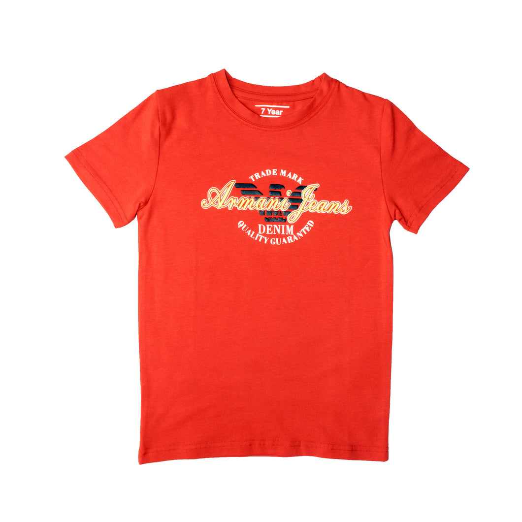 BOY'S S/S GRAPHIC TEE-RED-SSSS20KB-1114 - Export Mall Online Store Sale