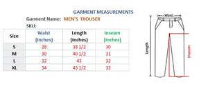 MEN'S TROUSER - DARK BLACK GREY - Export Mall Online Store Sale