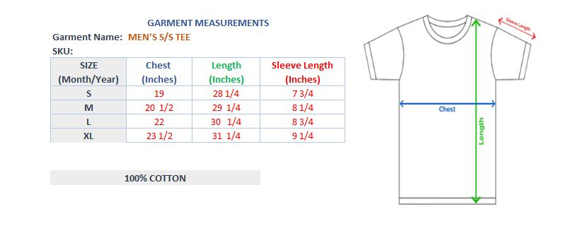 MEN'S S/S GRAPHIC TEE - TRUE BLUE - Export Mall