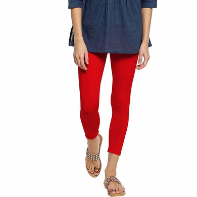WOMEN LEGGING-SOLID RED- 25 - Export Mall Online Store Sale