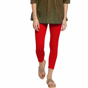WOMEN'S TROUSER-SOLID RED- 25 - Export Mall Online Store Sale