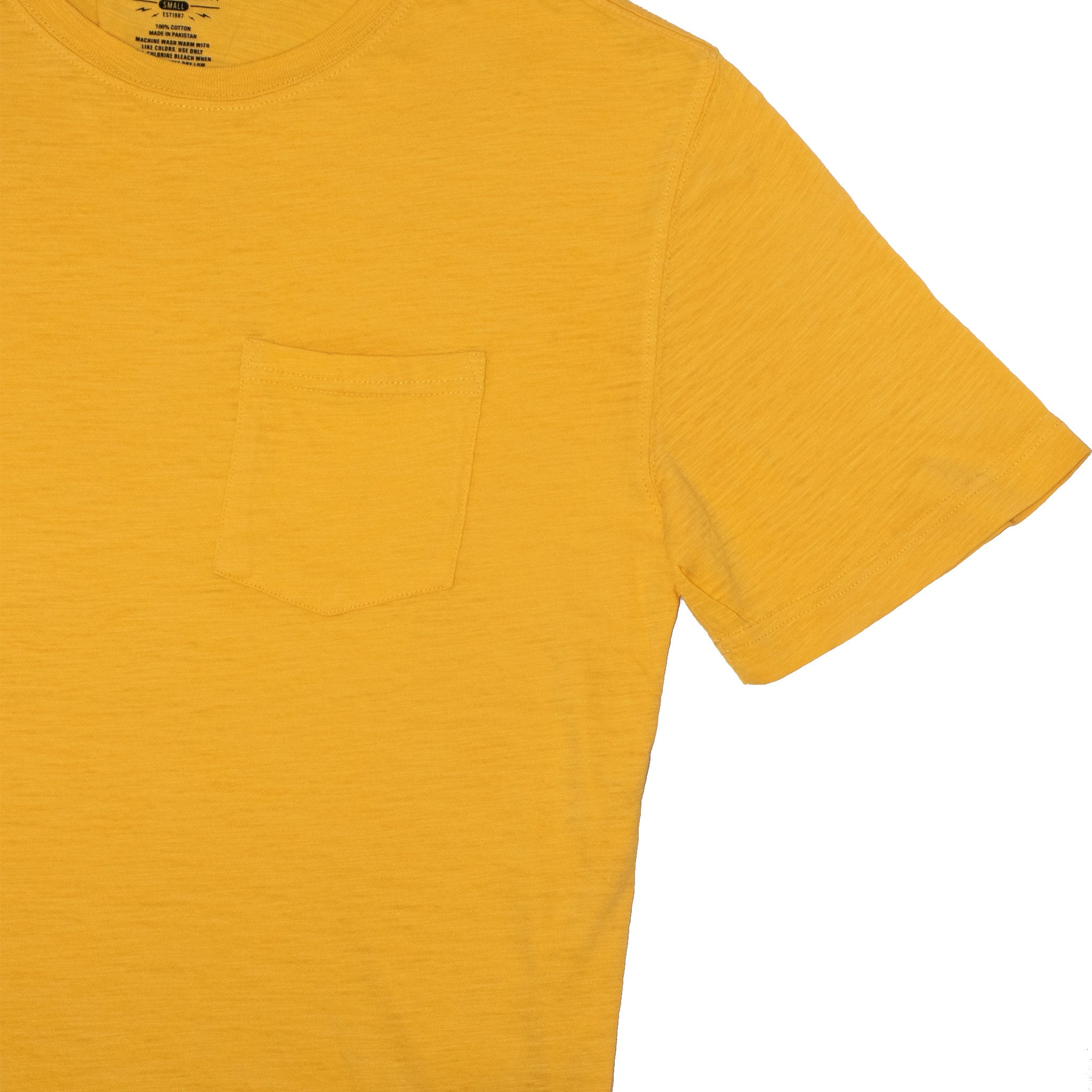 MEN'S POCKET TEE-YELLOW - Export Mall