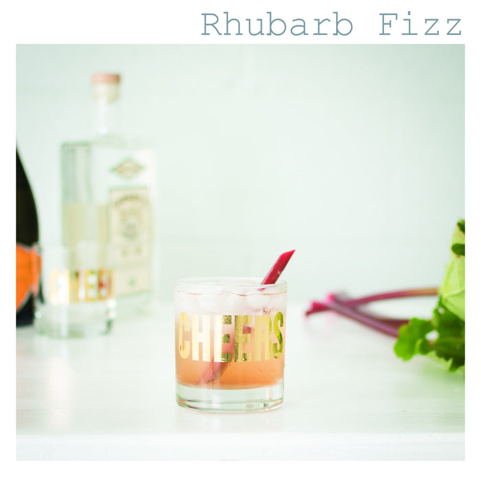 Cocktail Hour: Rhubarb Fizz