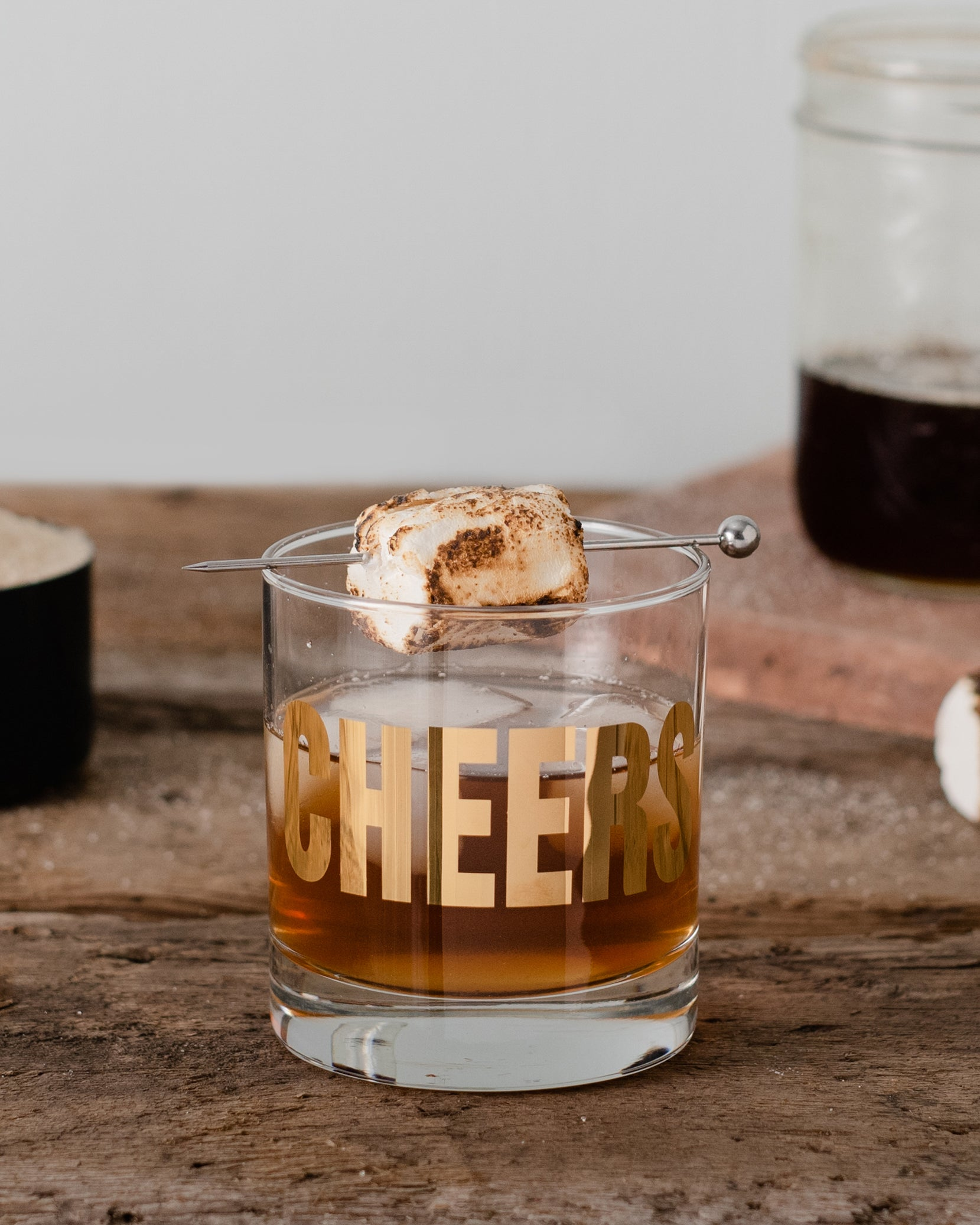 Toasted Marshmallow Campfire Cocktail For Thanksgiving Dinner