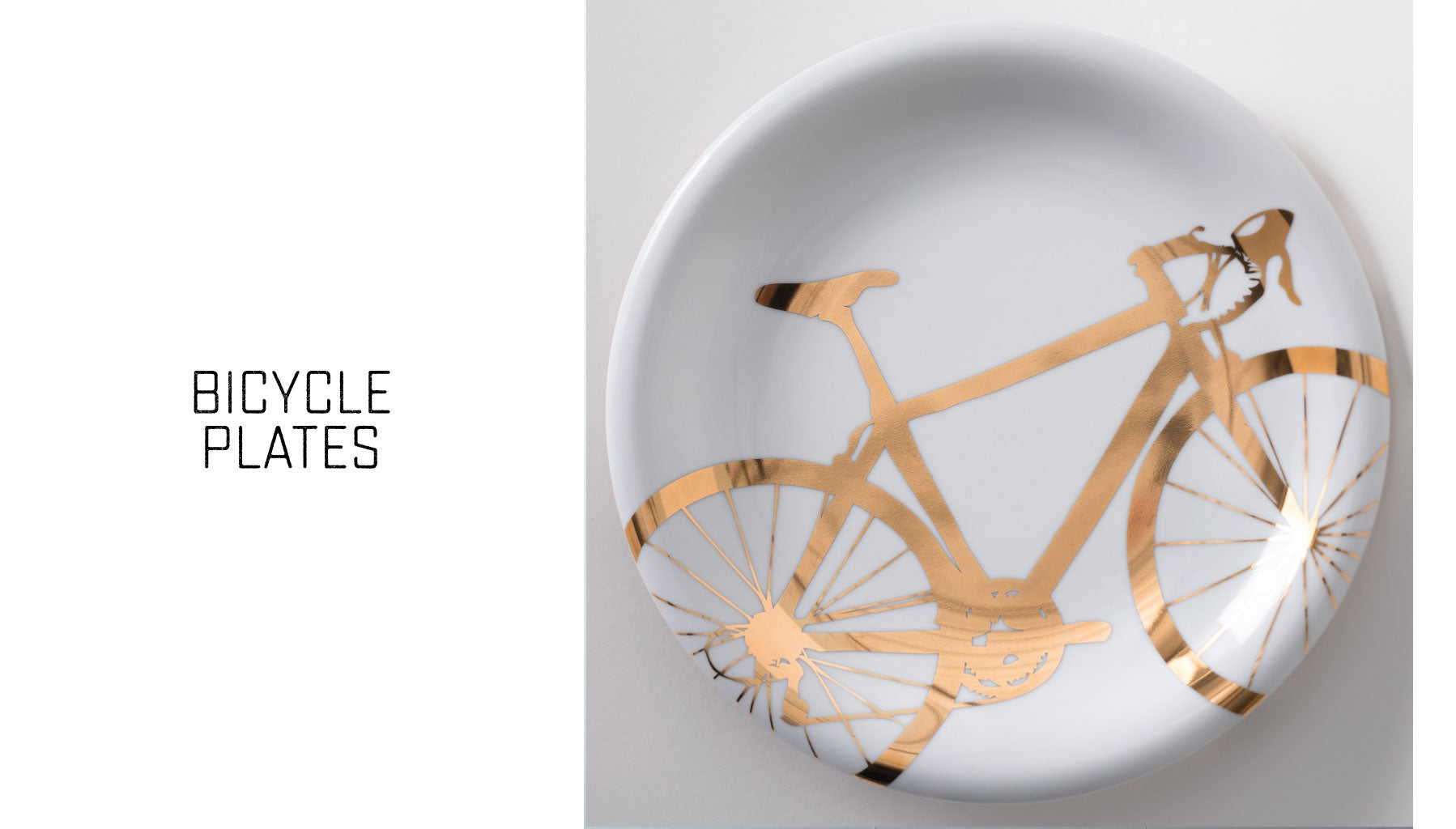 20K gold bicycle plates