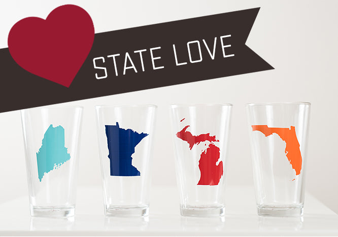 USA state local location america glassware