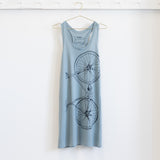 fixed gear bicycle tank tshirt dress screen printed fixie bicycle tee