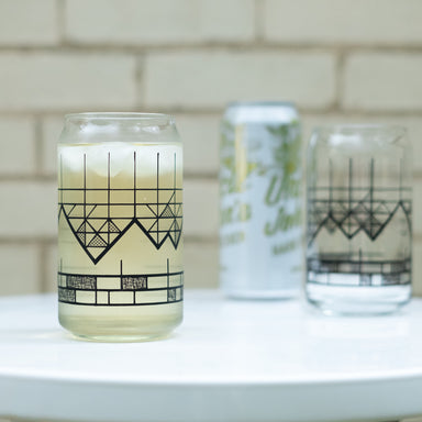 Geometric Mountain Can Glassware