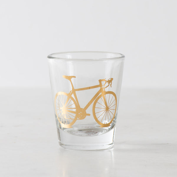 Bicycle Shot Glass, Precious Metals