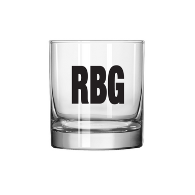 Ruth Bader Ginsburg RBG tribute old fashioned glassware fundraiser charity donation women's rights